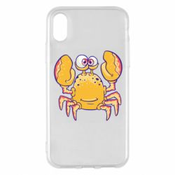 Чехол для iPhone X/Xs Funny crab