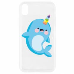 Чохол для iPhone XR Funny dolphin