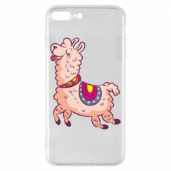 Чехол для iPhone 8 Plus Funny llama