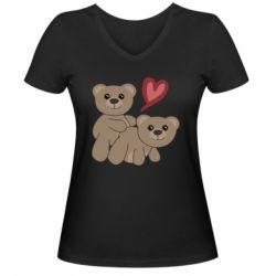Женская футболка с V-образным вырезом Funny passion