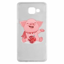 Чохол для Samsung A5 2016 Funny pig with a Christmas toy