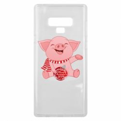 Чохол для Samsung Note 9 Funny pig with a Christmas toy