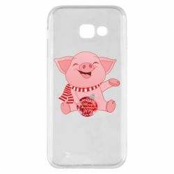 Чохол для Samsung A5 2017 Funny pig with a Christmas toy