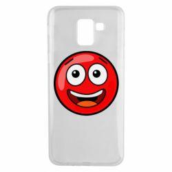 Чохол для Samsung J6 Funny Red Ball