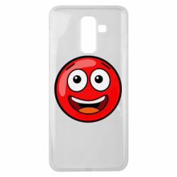 Чохол для Samsung J8 2018 Funny Red Ball