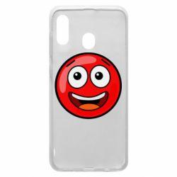Чохол для Samsung A20 Funny Red Ball