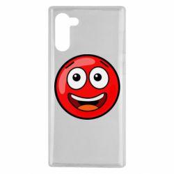 Чохол для Samsung Note 10 Funny Red Ball