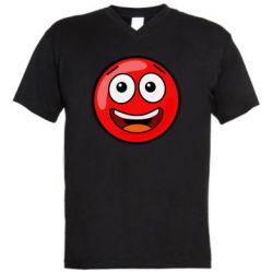 Чоловіча футболка з V-подібним вирізом Funny Red Ball
