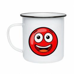 Кружка емальована Funny Red Ball