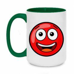 Кружка двоколірна 420ml Funny Red Ball