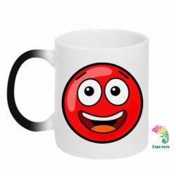 Кружка-хамелеон Funny Red Ball