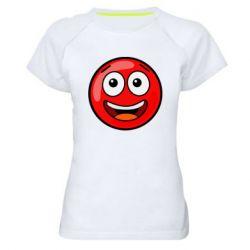 Жіноча спортивна футболка Funny Red Ball
