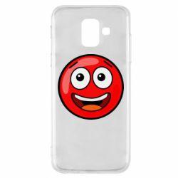 Чохол для Samsung A6 2018 Funny Red Ball