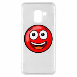 Чохол для Samsung A8 2018 Funny Red Ball
