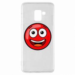 Чохол для Samsung A8+ 2018 Funny Red Ball