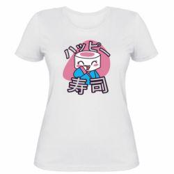 Женская футболка Funny sushi