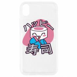 Чехол для iPhone XR Funny sushi