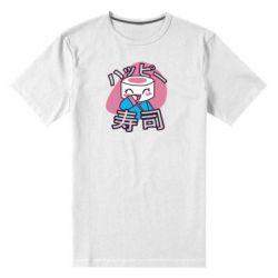 Мужская стрейчевая футболка Funny sushi