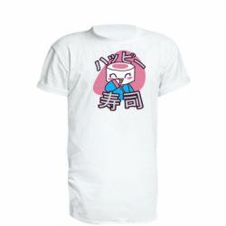 Удлиненная футболка Funny sushi