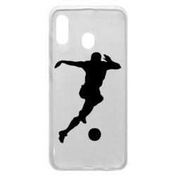 Чехол для Samsung A20 Футбол
