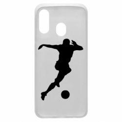 Чехол для Samsung A40 Футбол