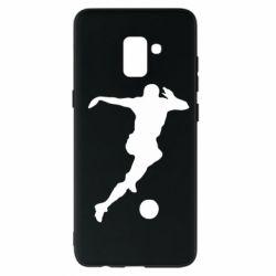 Чехол для Samsung A8+ 2018 Футбол