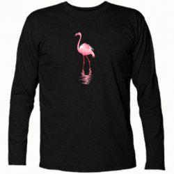 Футболка з довгим рукавом Фламинго