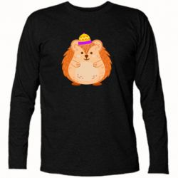 Футболка з довгим рукавом Little hedgehog in a hat