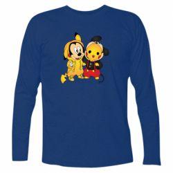 Футболка с длинным рукавом Mickey and Pikachu