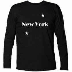 Футболка с длинным рукавом New York and stars