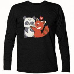 Футболка з довгим рукавом Panda and fire panda