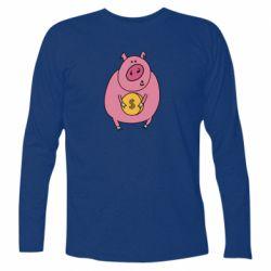 Футболка з довгим рукавом Pig and $