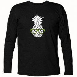 Футболка с длинным рукавом Pineapple with glasses