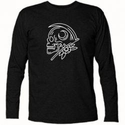 Футболка з довгим рукавом Skull with scythe