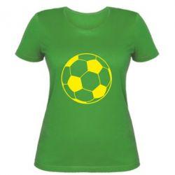 Женская футболка Футбольный мяч - FatLine