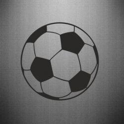 Наклейка Футбольный мяч - FatLine