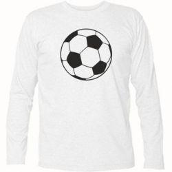 Футболка с длинным рукавом Футбольный мяч - FatLine