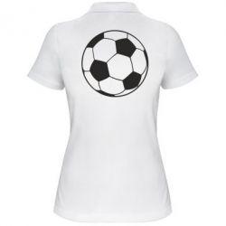 Женская футболка поло Футбольный мяч - FatLine