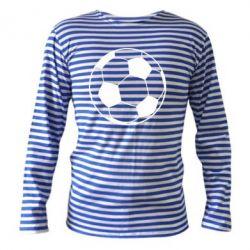 Тельняшка с длинным рукавом Футбольный мяч - FatLine