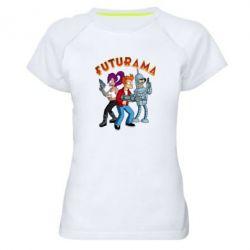 Жіноча спортивна футболка Футурама герої