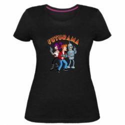 Жіноча стрейчева футболка Футурама герої
