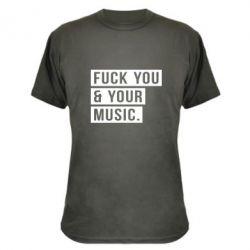 Камуфляжная футболка FY & YM