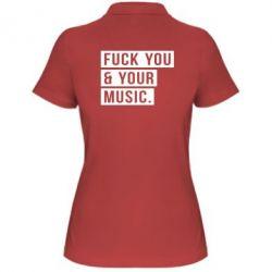 Женская футболка поло FY & YM