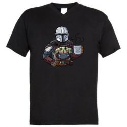 Мужская футболка  с V-образным вырезом Galaxy's best dad