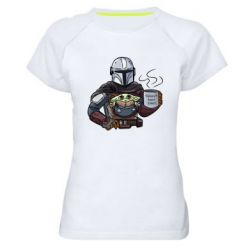 Женская спортивная футболка Galaxy's best dad