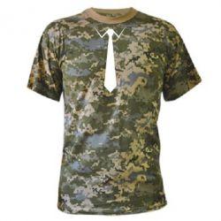 Камуфляжная футболка Галстук - FatLine
