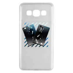 Чехол для Samsung A3 2015 Gambling Cards The Witcher and Cyrilla