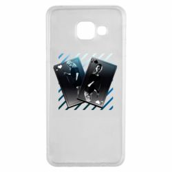 Чехол для Samsung A3 2016 Gambling Cards The Witcher and Cyrilla