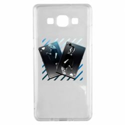 Чехол для Samsung A5 2015 Gambling Cards The Witcher and Cyrilla
