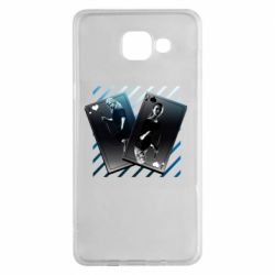 Чехол для Samsung A5 2016 Gambling Cards The Witcher and Cyrilla